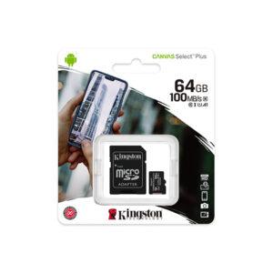 Kingston Canvas Select Plus 64GB 100MBs microSD Memory Card price in sri lanka buy online at cyberdeals.lk