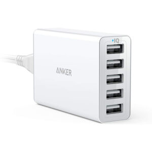 Anker PowerPort 5 Lite 40W 5-Port USB Wall Charger price in sri lanka buy online at cyberdeals.lk