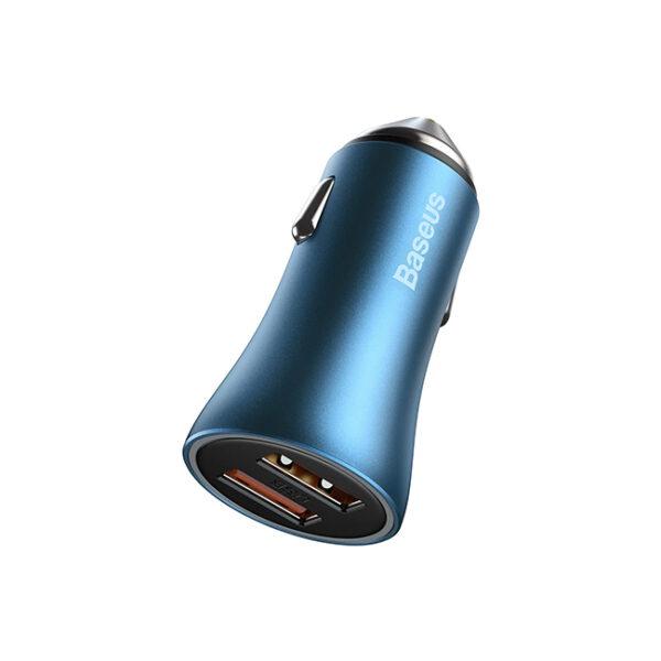 Baseus Golden Contactor Pro 40W Dual USB Port Quick Car Charger 2