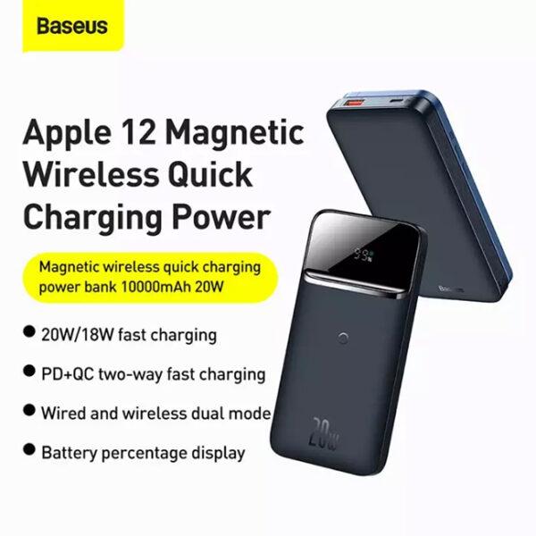 Baseus Magnetic Wireless 20W Quick Charging 10000mAh Power Bank 1