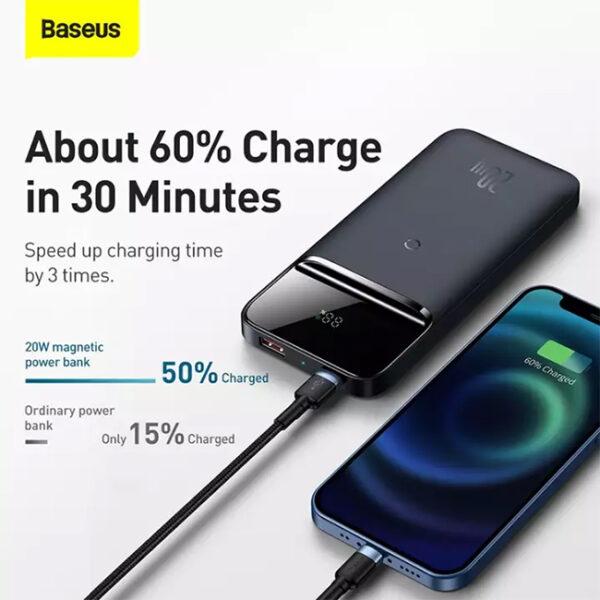 Baseus Magnetic Wireless 20W Quick Charging 10000mAh Power Bank 2