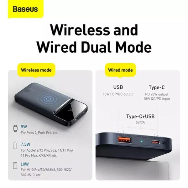 Baseus Magnetic Wireless 20W Quick Charging 10000mAh Power Bank 3